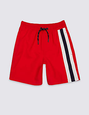 Striped Swim Shorts (3-14 Years), RED MIX, catlanding