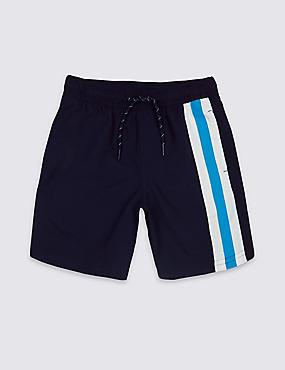 Striped Swim Shorts (3-14 Years), NAVY, catlanding