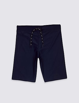 Long Line Swim Shorts (3-14 Years), NAVY, catlanding