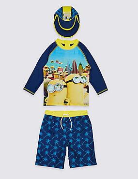 3 Piece Despicable Me™ Minions Swimsuit (3-8 Years), MULTI, catlanding