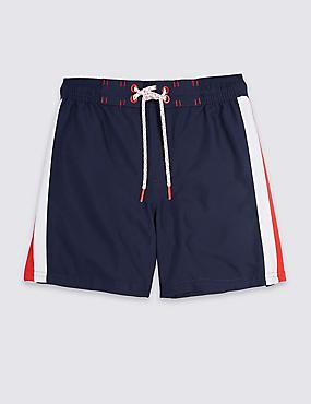 Drawstring Swim Shorts (3-16 Years), NEON BLUE, catlanding