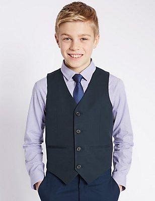 4 Button Waistcoat (5-14 Years), NAVY, catlanding