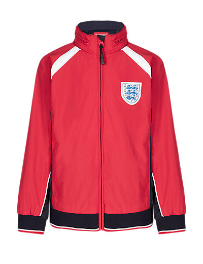 England FA 3 Lions Panelled & Zipped Jacket Clothing