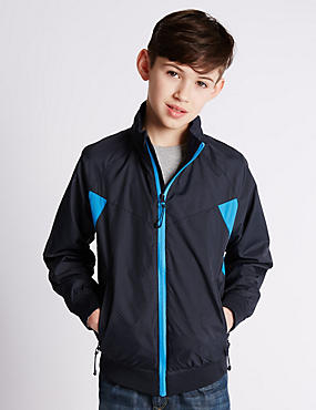 Panelled Zip Through Jacket (5-14 Years)