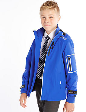 Stormwear™ Hooded Jacket (5-14 Years), BLUE, catlanding