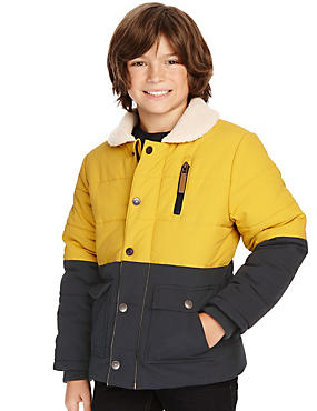 Colour Block Padded Coat with Stormwear™ (5-14 Years)