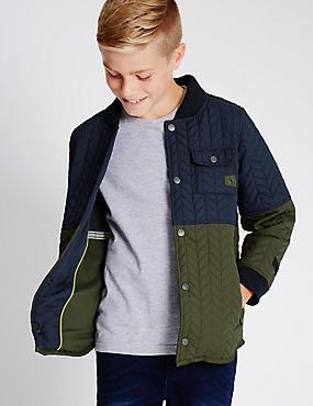 Veste ouatinée, dotée de la technologie Stormwear™ (du 5 au 14ans), KAKI ASSORTI, catlanding