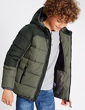 Stormwear™ Padded Jacket (5-14 Years), KHAKI MIX, catlanding