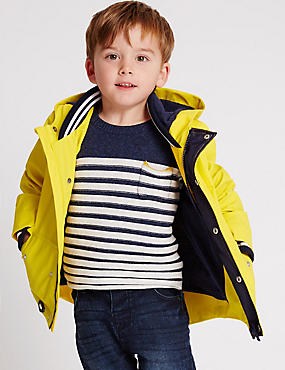 Fisherman Hooded Jacket (3 Months - 5 Years), YELLOW, catlanding
