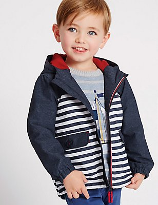 Striped Jacket with Stormwear™ (3 Months - 5 Years), BLUE MIX, catlanding