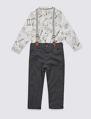 2 Piece Paddington™ Shirt & Trousers Outfit (3 Months - 6 Years), MULTI, catlanding