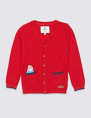 Paddington™ Cotton Blend Cardigan (3 Months - 6 Years), RED, catlanding