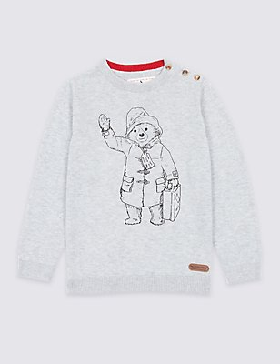 Paddington™ Cotton Blend Jumper (3 Months - 6 Years), GREY MARL, catlanding