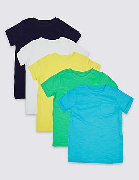 Lot de 5t-shirts 100% coton (du 3mois au 5ans), VERT ASSORTI, catlanding