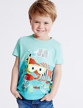 T-shirt brodé 100% coton (du 3mois au 5ans), BLEU ASSORTI, catlanding