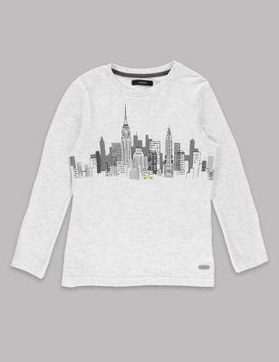 Хлопковая футболка Skyline с длинным рукавом для мальчика 1-7 лет