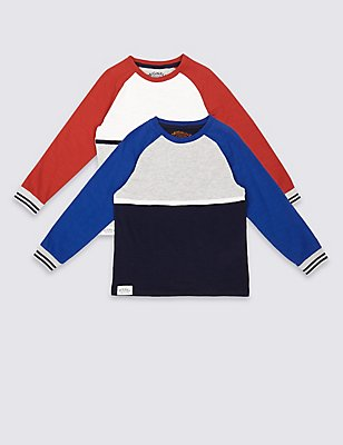 2 Pack Long Sleeve Tops (3 Months - 5 Years), MULTI, catlanding