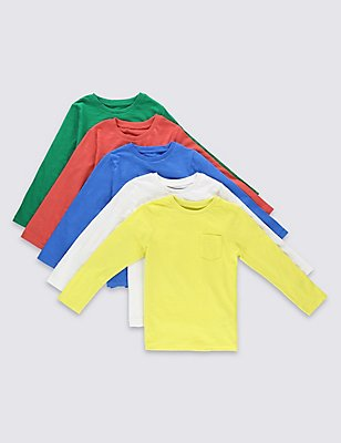 5 Pack Assorted T-Shirts (3 Months - 5 Years), MULTI, catlanding