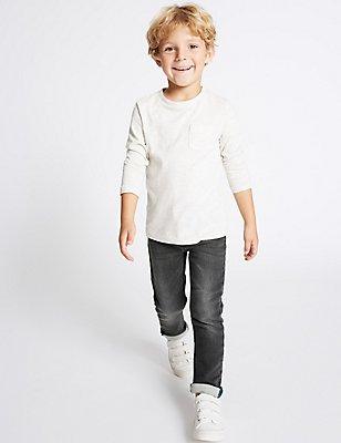 Jeans mit hohem Baumwollanteil (3 Monate–6 Jahre), DENIM, catlanding