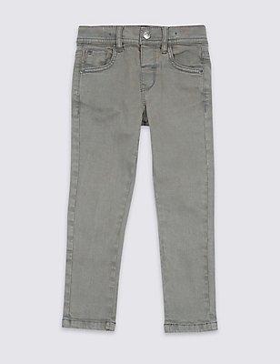 Jeans mit verstellbarem Bund (3 Monate–5 Jahre), EISVOGEL DUNKEL, catlanding