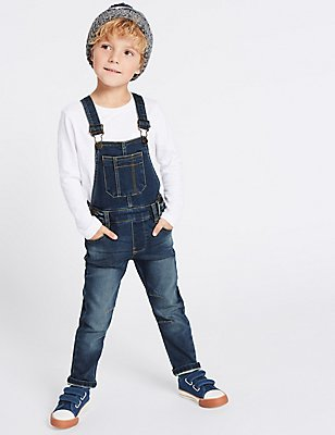 Cotton Blend Dungaree (3 Months - 5 Years), DENIM, catlanding