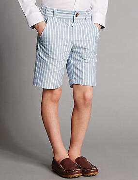 Pure Cotton Supercrease™ Striped Shorts (1-8 Years)