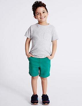 Cotton Rich Jersey Shorts (3 Months - 5 Years), LIGHT AQUA, catlanding