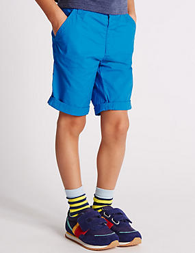 Pure Cotton Ripstop Adjustable Waistband Shorts (1-7 Years)