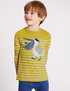 T-shirt 100% coton (du 3mois au 5ans), OCRE, catlanding