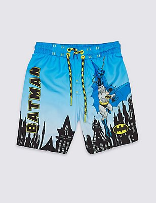 Batman™ Printed Swim Shorts (9 Months - 8 Years), BLUE MIX, catlanding
