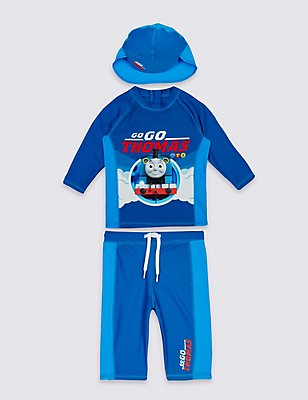 3 Piece Thomas & Friends™ Swim Outfit (3 Months - 5 Years), BLUE MIX, catlanding