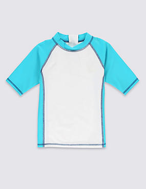Colour Block Rash Vest (1-7 Years)