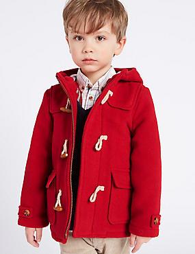 Paddington Duffle Coat (3 Months - 6 Years), RED, catlanding