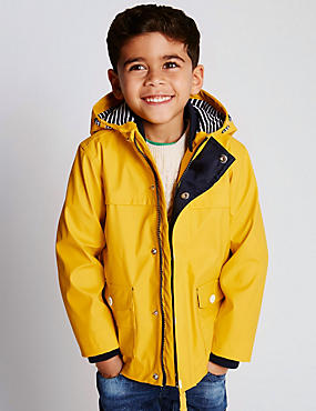 Fisherman Shower Resistant Hooded Jacket (1-7 Years)