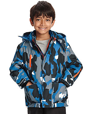 Thinsulate™ Camouflage Print Hooded Coat (1-7 Years)