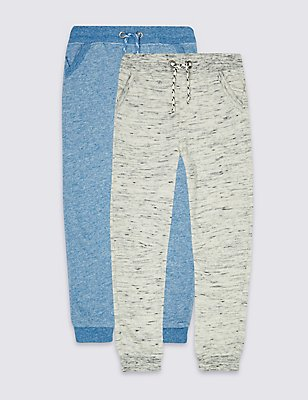 2 Pack Textured Joggers (3 Months - 5 Years), MULTI, catlanding