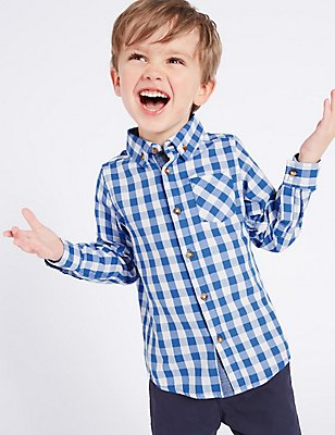 Paddington™  Pure Cotton Gingham Shirt (3 Months - 6 Years), MULTI, catlanding