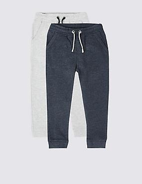 Pack de 2 pantalones deportivos de algodón (3meses-5años), MULTICOLOR, catlanding