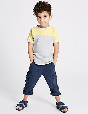Pure Cotton Trousers (3 Months - 5 Years), GREY, catlanding