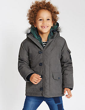 Parka dotée de la technologie Stormwear™ (du 1 au 7ans), GRIS ASSORTI, catlanding