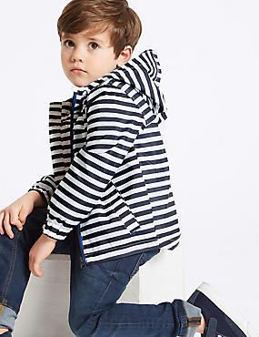 Stripe Lightweight Jacket (3 Months - 7 Years), NAVY, catlanding