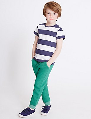 Cotton Rich Joggers (3 Months - 5 Years), GREEN, catlanding