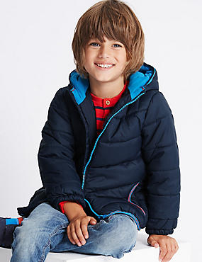 Stormwear™ Padded Coat (1-7 Years), NAVY, catlanding
