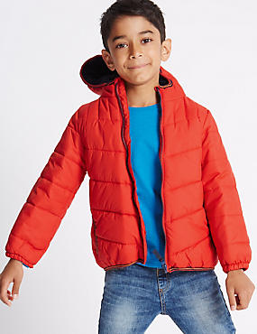 Padded Coat with Stormwear™ (1-7 Years), RED, catlanding