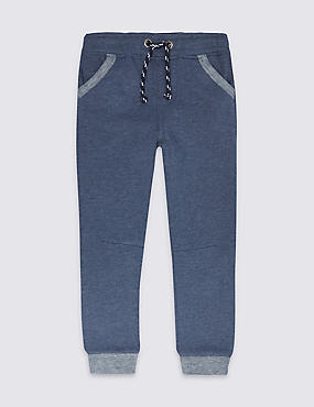Cotton Rich Joggers (3 Months - 5 Years), NAVY, catlanding