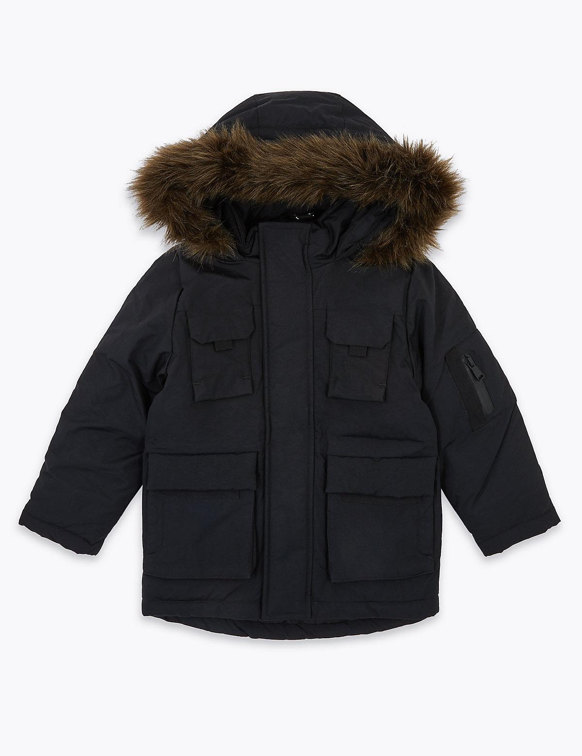 Парка с капюшоном и отделкой Stormwear ™
