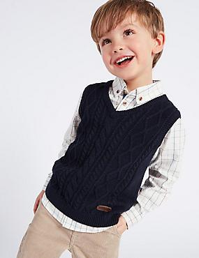 Paddington™ Knitted Tank & Shirt Set (3 Months - 6 Years), NAVY, catlanding