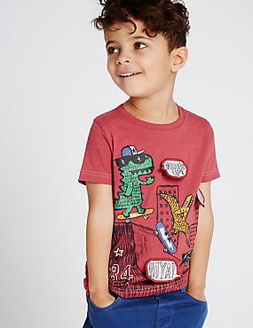 T-shirt 100% coton (du 3mois au 5ans), ROUGE MOYEN, catlanding