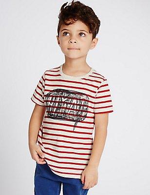 Short Sleeve T-Shirt (3 Months - 5 Years), RED, catlanding