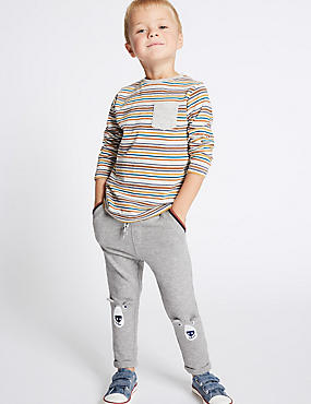 Cotton Rich Joggers (3 Months - 5 Years), MULTI, catlanding